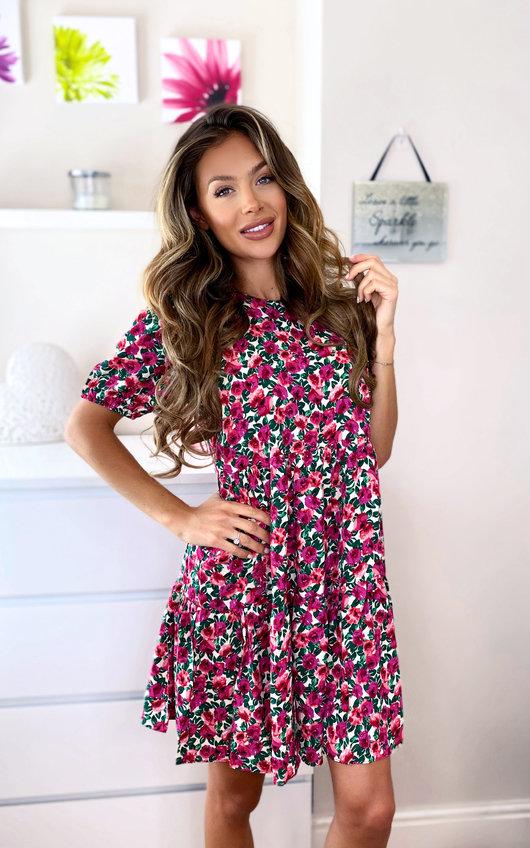 Jade Printed Layered Shift Dress
