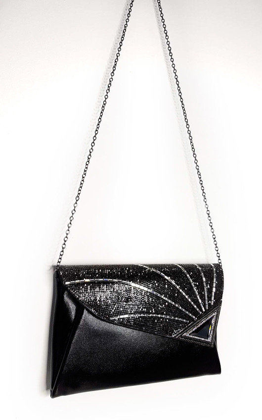Jade Sequin Embellished Clutch Bag