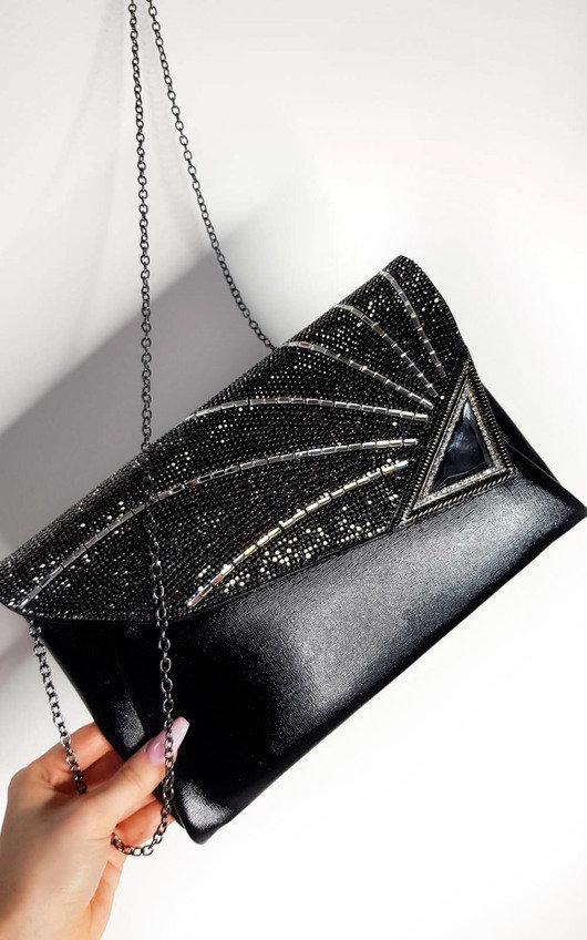 Jade Sequin Embellished Clutch Bag