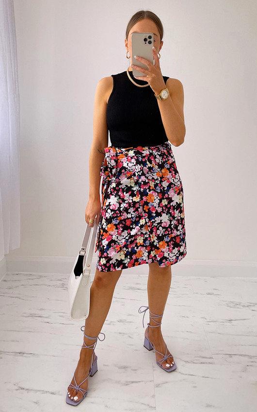 Jamilla Printed Wrap Skirt