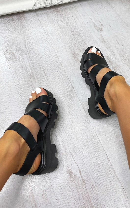 Jane Buckle Chunky Sandals