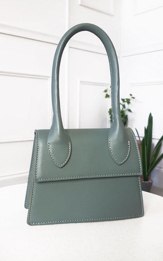 Jaq Faux Leather Handle Mini Bag