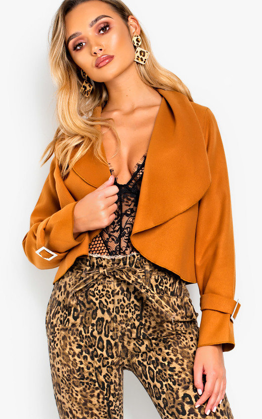 Jaq Oversize Collar Cropped Blazer Jacket