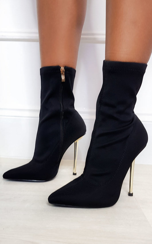 Jaq Stretch Heeled Boots