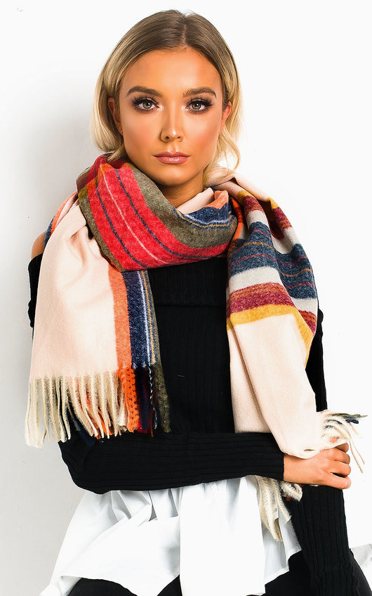 Jaq Striped Print Scarf