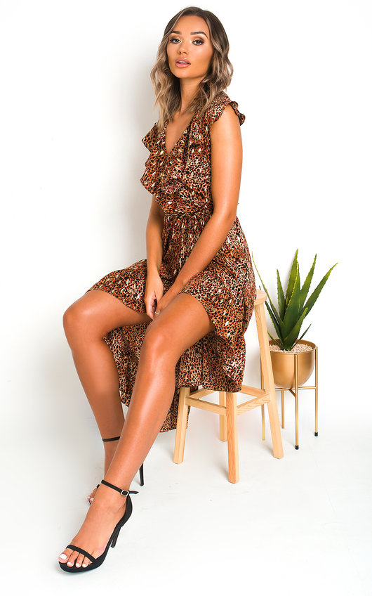 Jaq Wrap Front Midi Dress