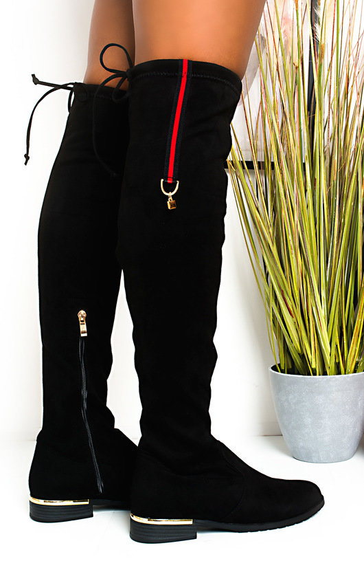 Jasmine Faux Suede Knee High Boots
