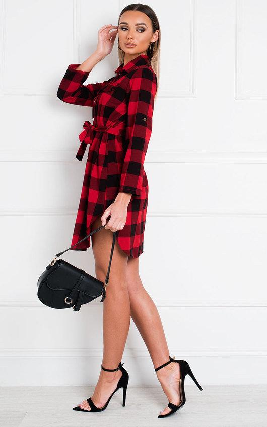 Jaxx Tartan Shirt Dress