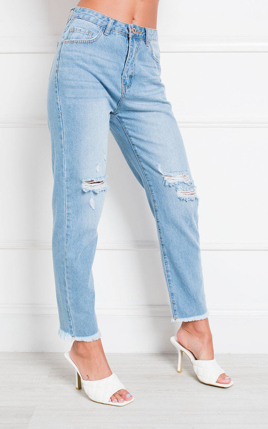 Jay Distressed Straight Leg Jeans