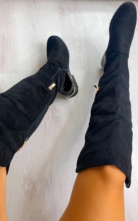 Jay Suede Over Knee High Boots