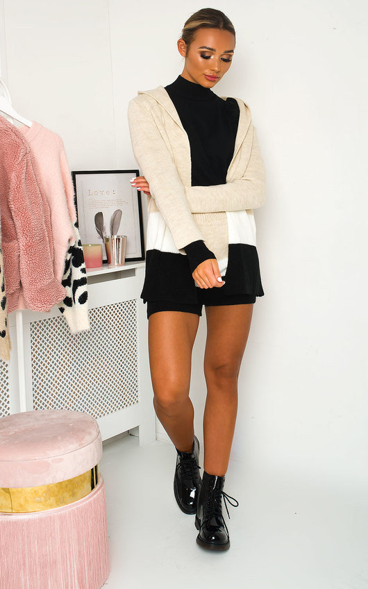 Jaz knitted Jacket and Shorts Co-ord