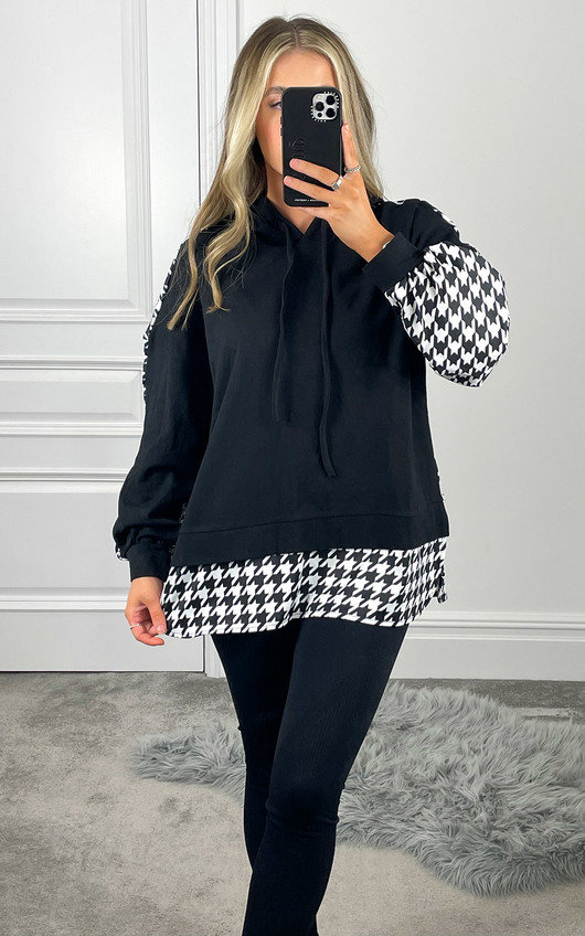Jazz Checked Hooded Jumper