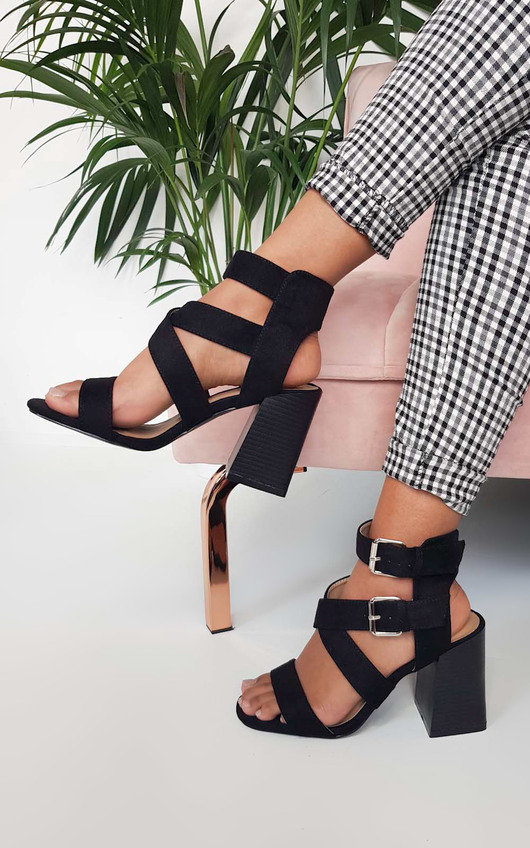 Jemma Cross Over Double Strap Heels