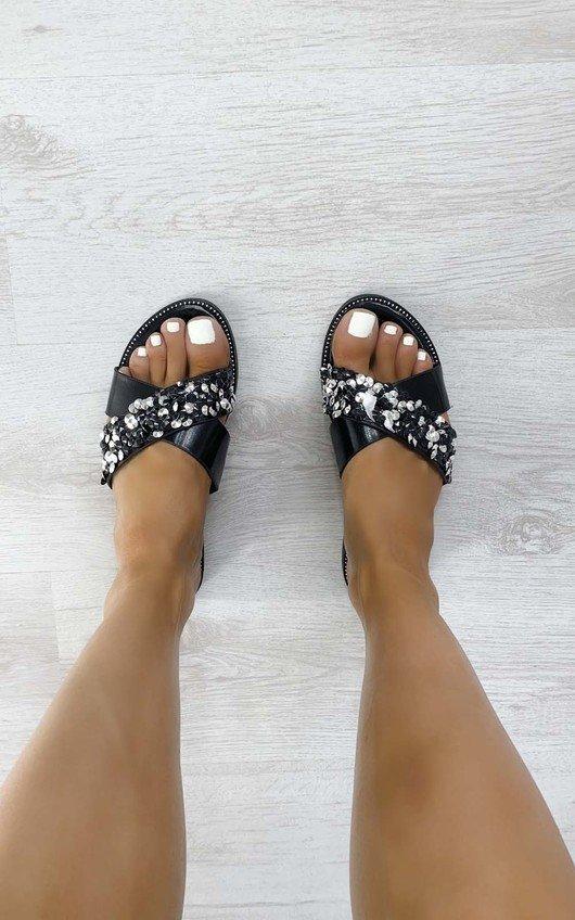 Jen Crossover Embellished Sandals