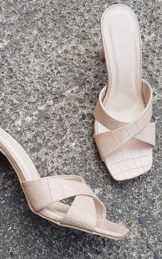 Jen Crossover Mule High Heels