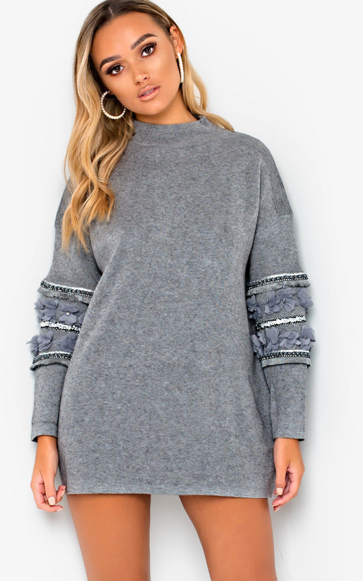 Jeni Embellished Oversized Jumper