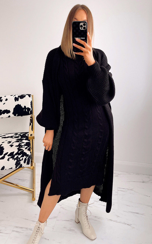 Jenna Knitted Cardigan and Dress Co-ord