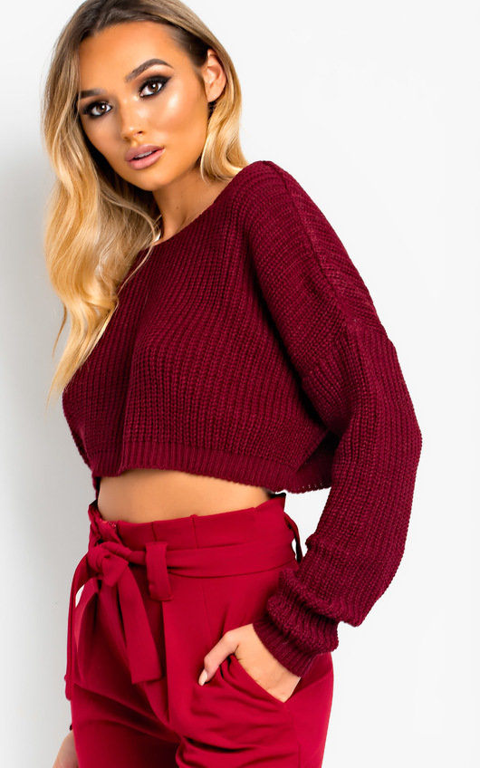 Jennah Plunge Back Knitted Jumper