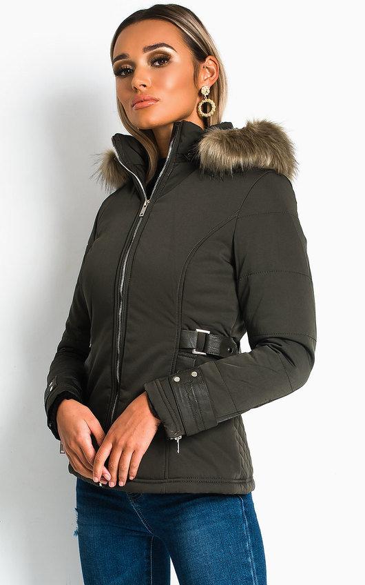 Jenni Padded Faux Fur Hood Jacket