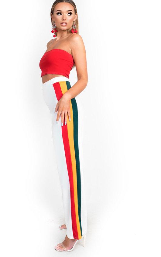 Jenni Side Stripe Wide Leg Trousers
