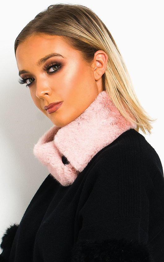 Jennie Faux Fur Collar Scarf