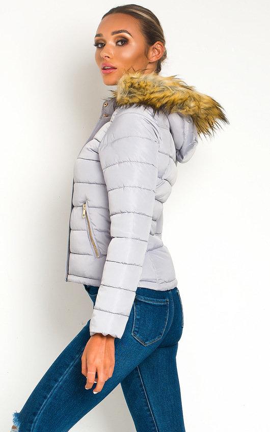 Jennifer Padded Faux Fur Hood Puffer Jacket