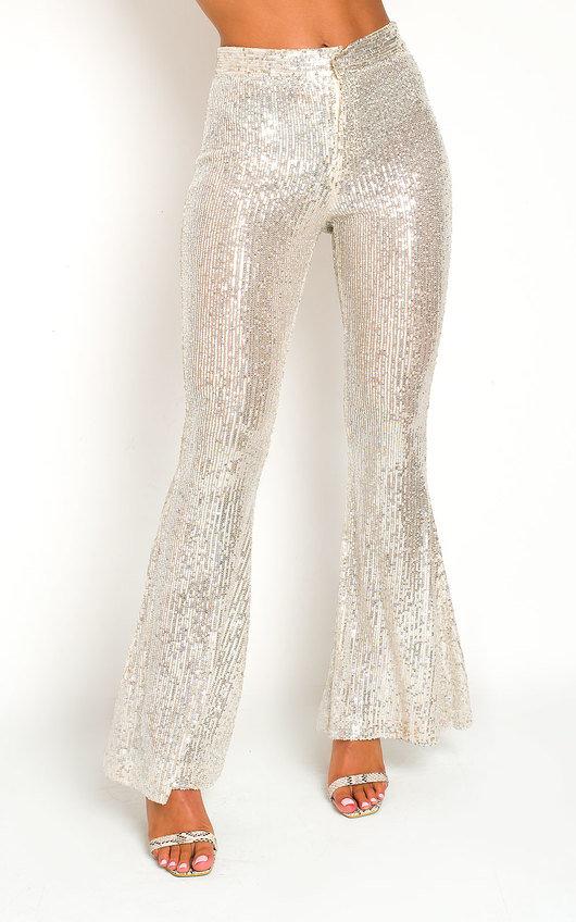 Jerri Sequin Flare Trousers