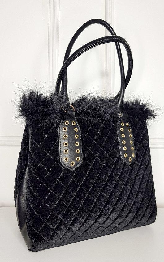 Jes Faux Fur Handbag