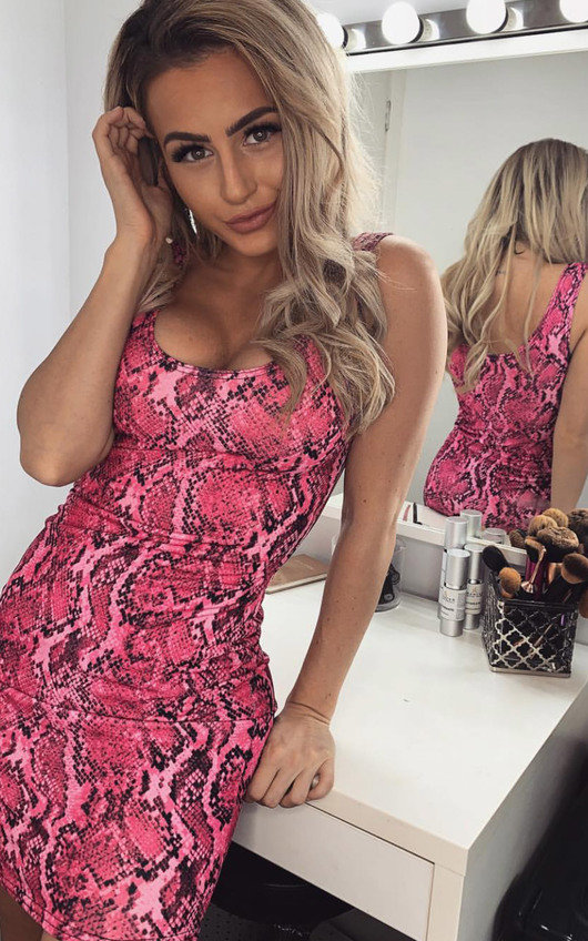 Jess Snake Print Mini Dress