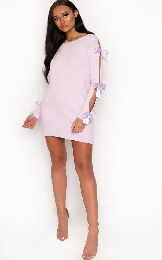 Jessica Cut Out Bow Detail Knit Dress