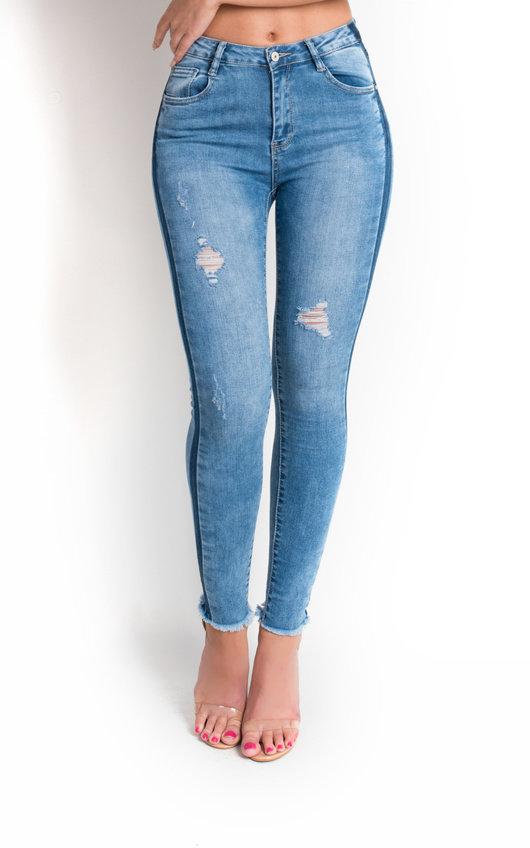 Jessica Stripe Stretch Fit Jeans