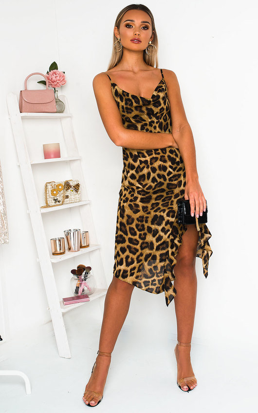 Jessie Leopard Print Midi Dress