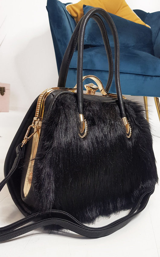 Jessy Faux Fur Handbag