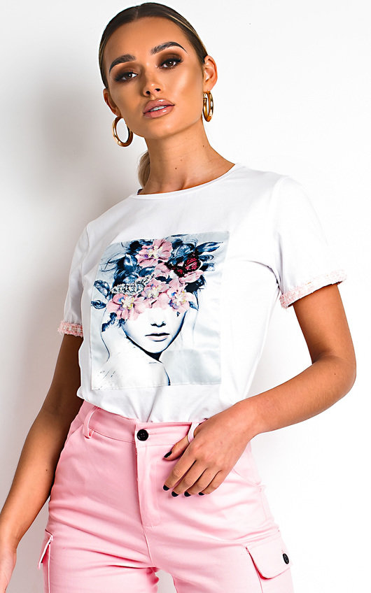 Jillian Embellished Graphic T-Shirt