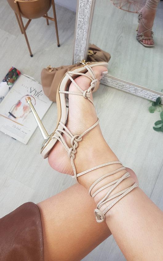Joana Strappy Square Toe Heels