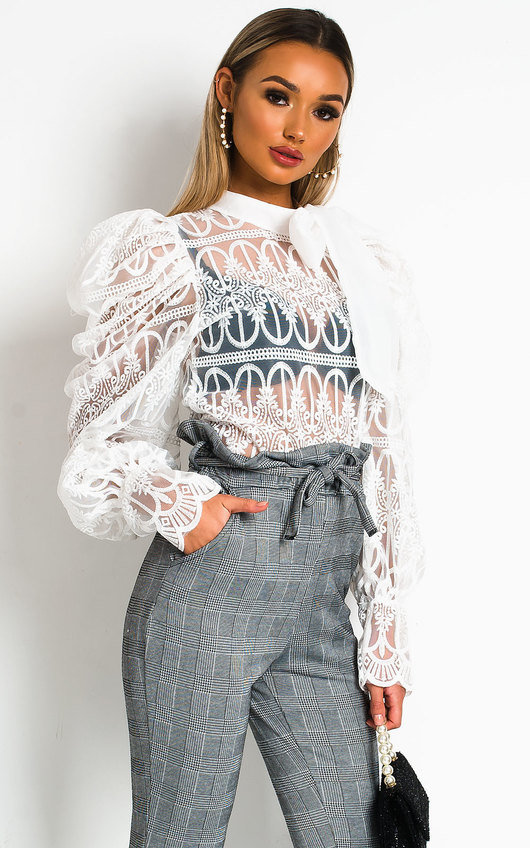 Joanna Embroidered Lace  Blouse