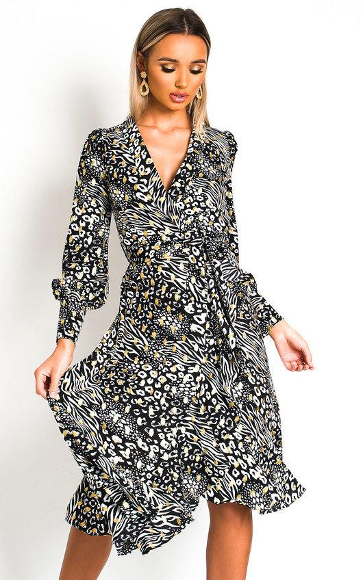 Joanna Wrap Midi Dress