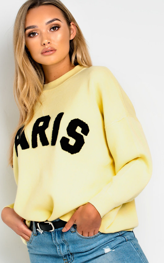 Jodi Slogan Oversized Jumper