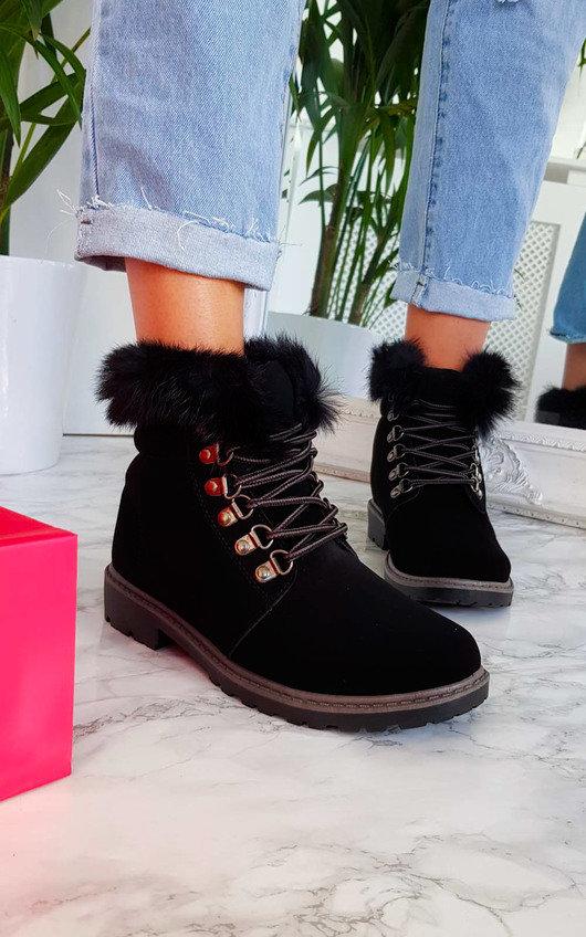 Jody Faux Fur Lace Up Boots