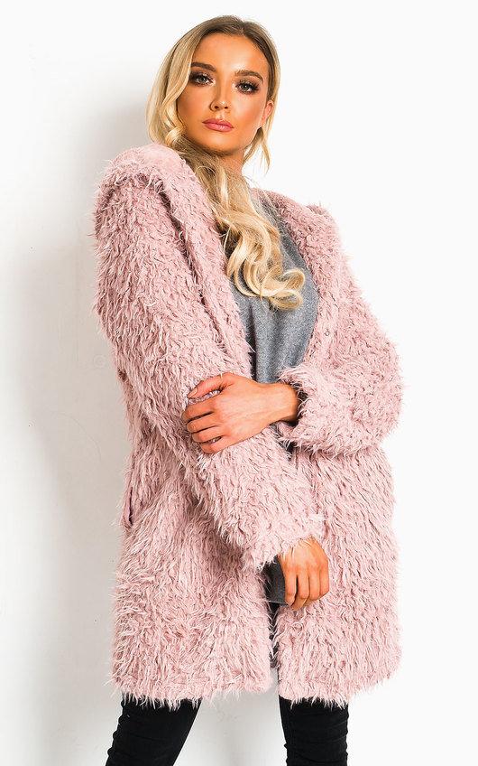 Jojo Fluffy Hooded Coat