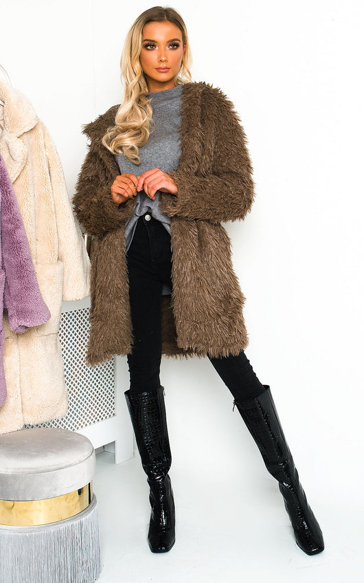 Jojo Fluffy Hooded Coat