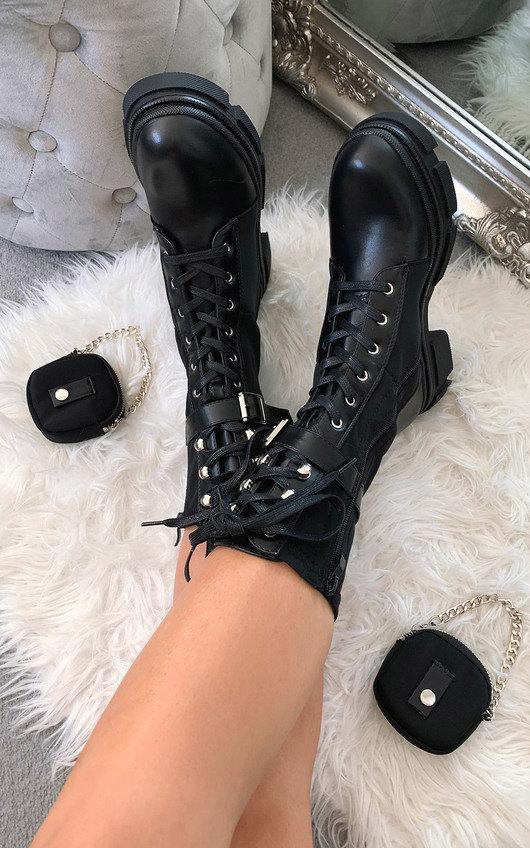 Jorgie Faux Leather Long Boots