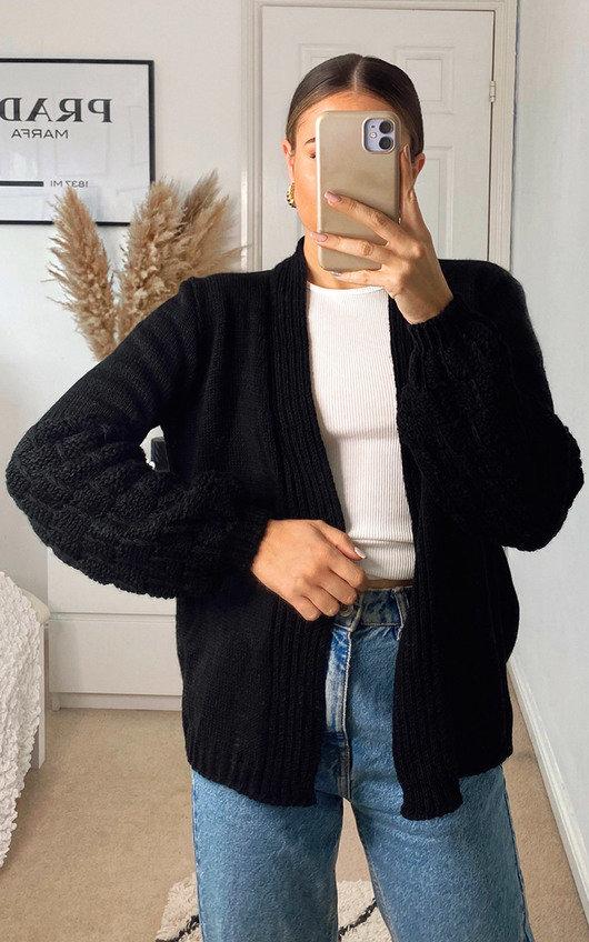 Josie Knitted Balloon Sleeve Cardigan