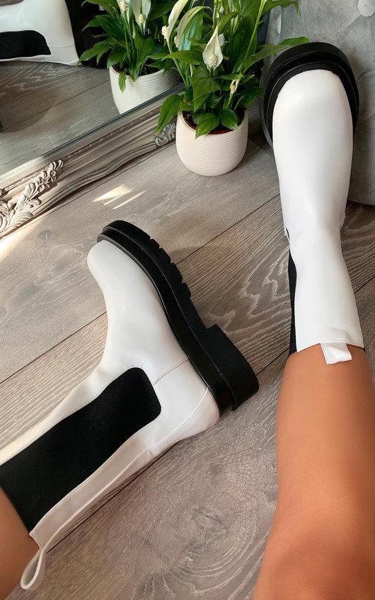 Joslin Faux Leather Long Boots