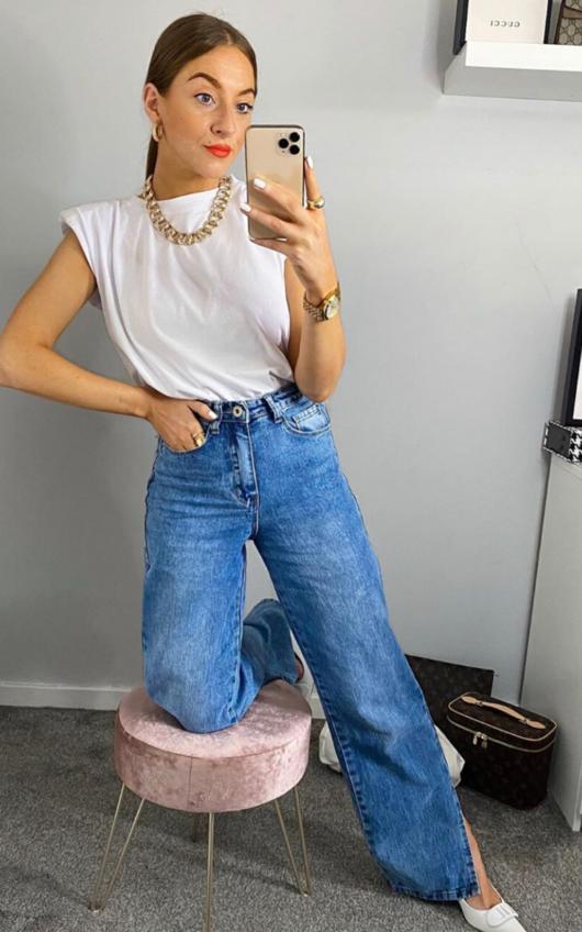 Joslin High Waist Wide Leg Jeans