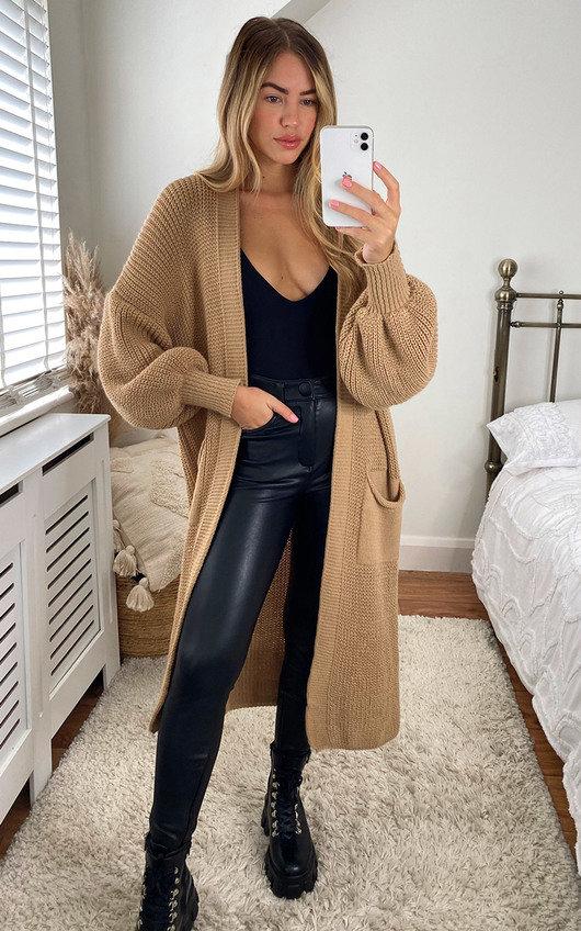 Joslin Oversized Knitted Maxi Cardigan