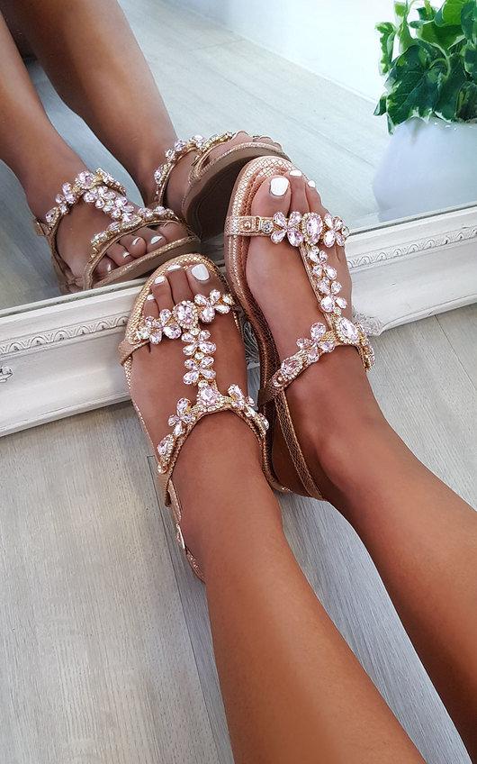 Jude Strappy Jewel Embellished Sandals