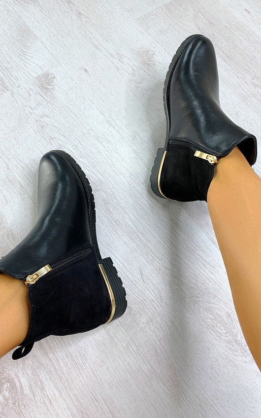 Jules Faux Leather Ankle Boots
