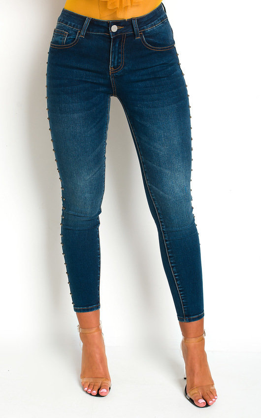 Jules Studded Skinny Jeans