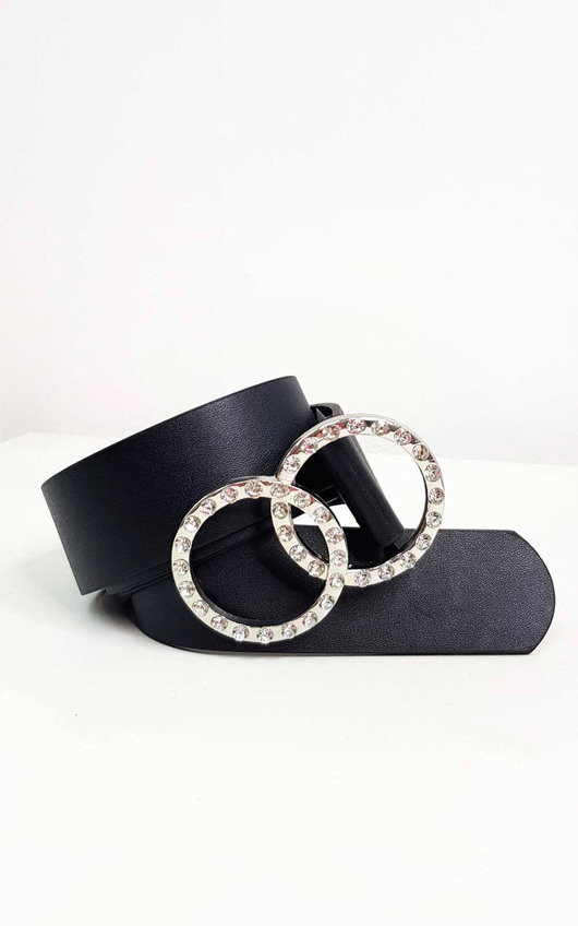 Juliana Diamante Faux Leather Belt